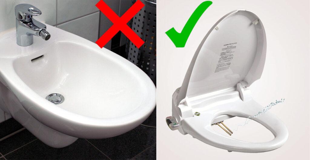 alternativas al bidet para inodoro